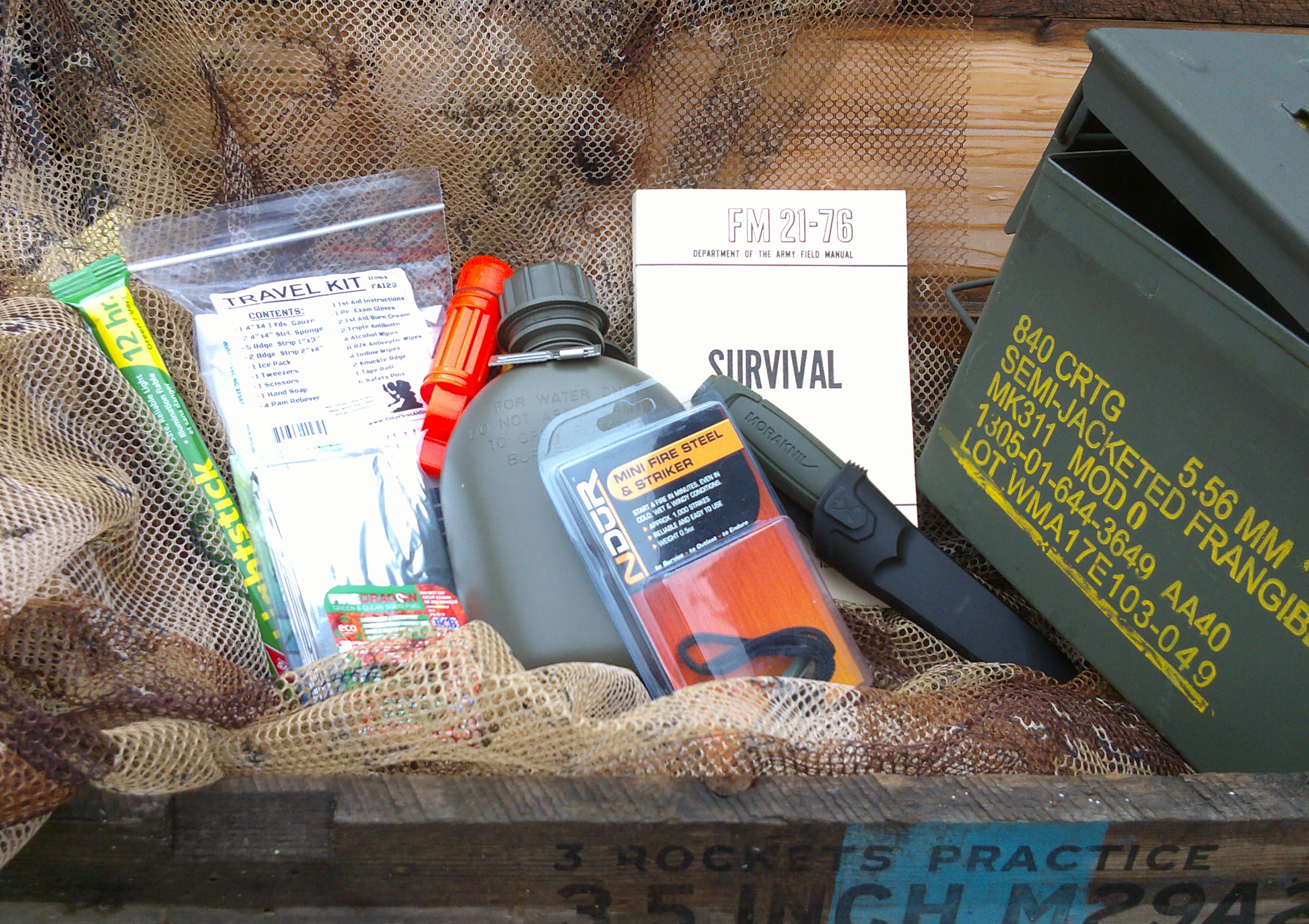 Limited Edition Survival Kit Set- Ammo Can Version