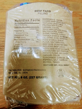 MRE Single Serving