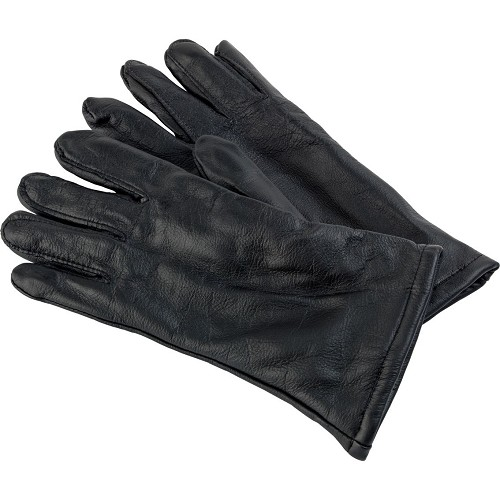 Army Black Leather Dress Gloves- Wool Lined